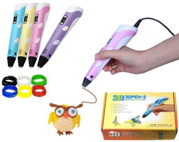 3D pen-2 ручка с LCD дисплеем, 3Д ручка детская для рисования