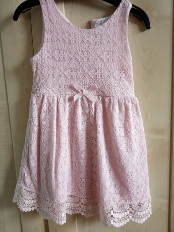 Sukienka, sukieneczka 92 h& m koronkowa
