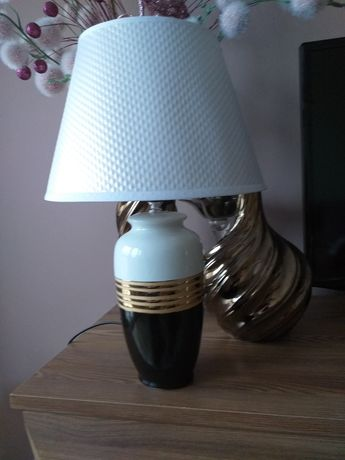 Lampa, lampka ceramiczna, stan idealny