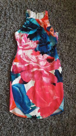 Sukienka kwiaty roz 36