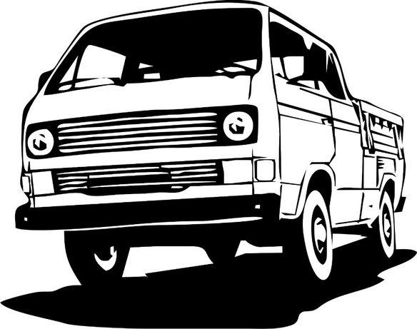 N539-naklejka VW transporter T3 z paką