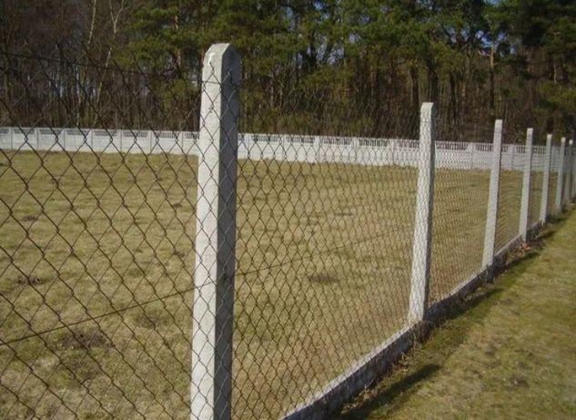 Słupki betonowe ogrodzeniowe  220 cm solidne góra 10x10 dół 14x14