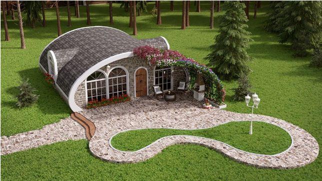 Будівництво Енергозберігаючих купольних будинків за 1 день