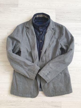 Zara świetny płaszcz męski kurtka 2w1 r. XL wełna