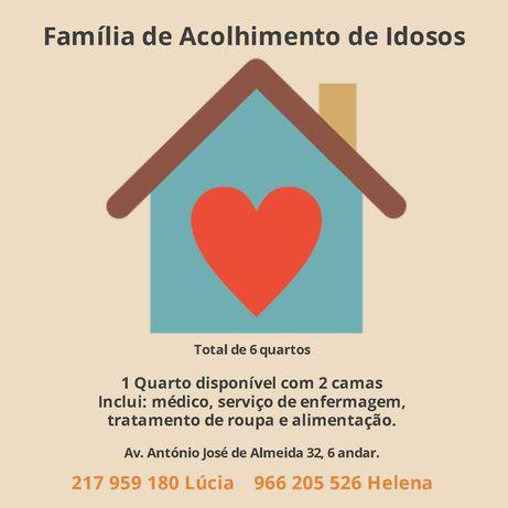 Quarto em Família de Acolhimento de Idosos - Lisboa centro