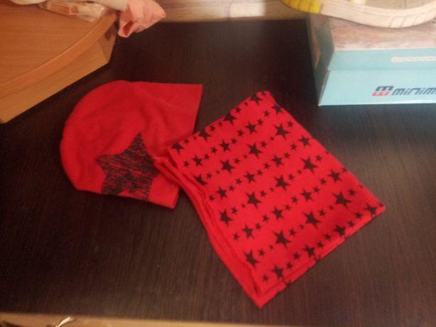 Шапка с шарфом от 9 мес до двух лет