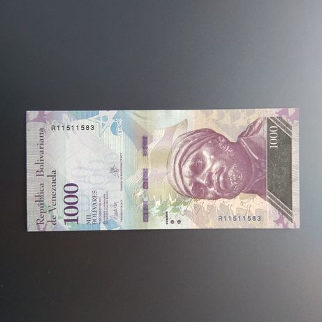1000 боливар 2017р. Венесуэла