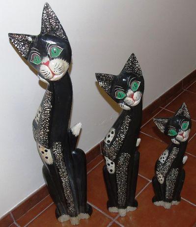 3 Gatinhos Decorativos
