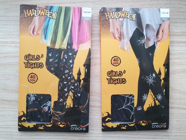 Now rajstopy dziewczęce strój na Halloween święto dyni 134/140