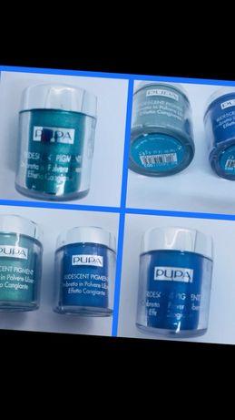 Pupa оригинал пигмент тени бирюзовые синие купила в Италии в магазине