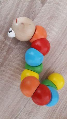 Wąż drewniany zabawka