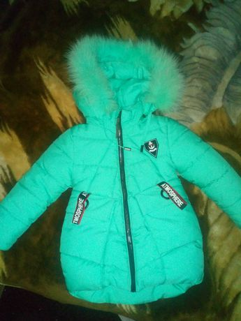 Куртка для девочки зима 104см