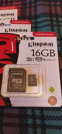 Kingston 16gb, micro SD, HD vídeo