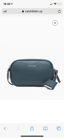 Стильная сумочка кросс боди calvin klein pebble dual compartment