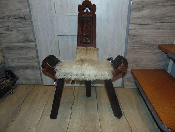 Stare siedzenie drewniane,rzeźbione,żydowskie