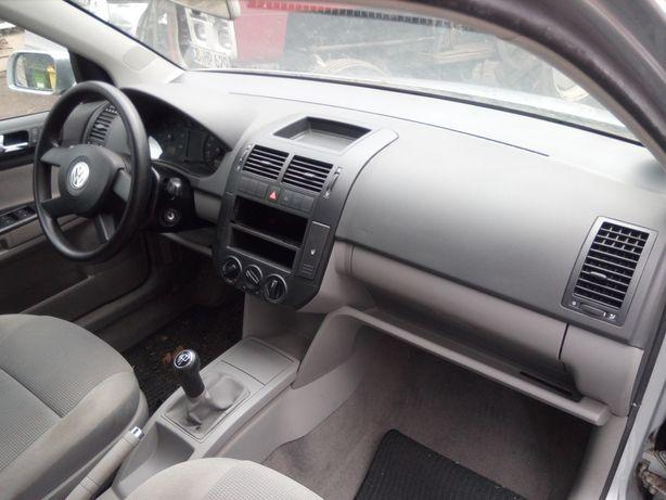 VW Polo 9n 02-08 - Deska Konsola Airbag Poduszki Pasy Sensor kpl.