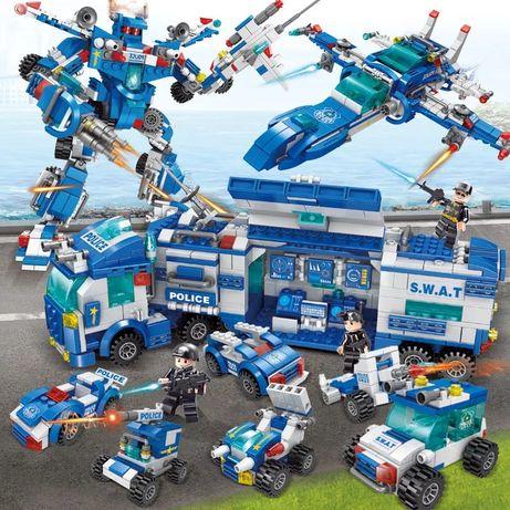 Klocki 700szt policja zestaw kompatybilne z lego
