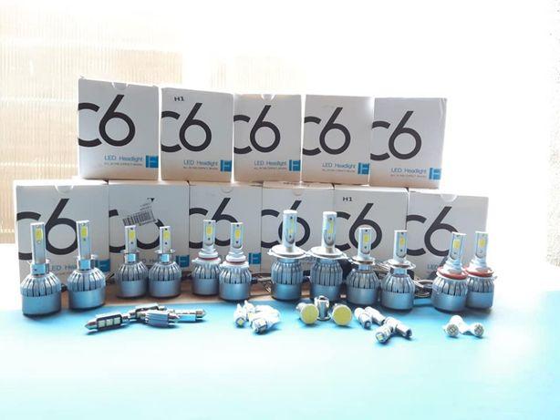 Lâmpadas led H1/HB2/H3/HB3(9005)/H4/HB4(9006)/H7/H8/H9/H10/H11