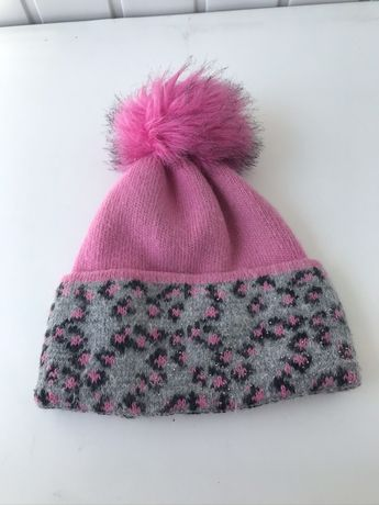 Шапка зимняя розовая