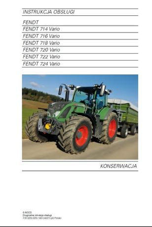 Instrukcja PL Fendt 700 SCR Tier 3b 714,716,718,720,722,724 VARIO