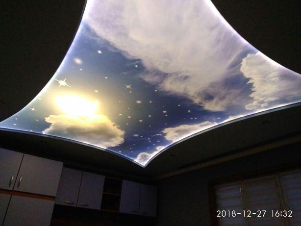 Натяжные потолки, фотообои
