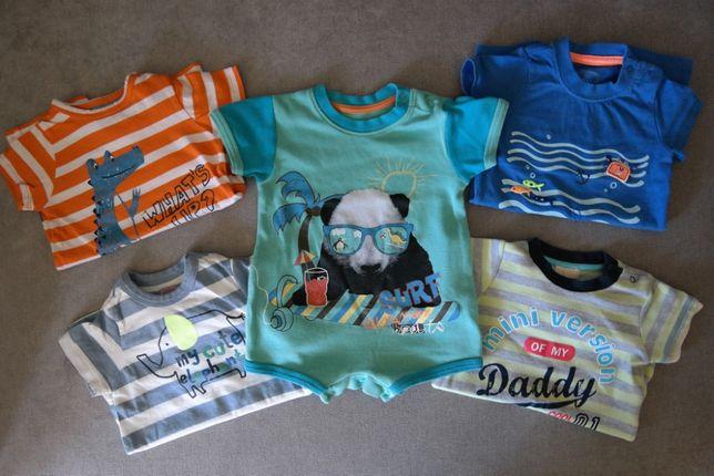 Chłopiec 62 (0-3M) Rampersy piżamki z krótkim rekawem Cool Club lato