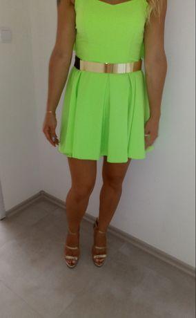 Neonowa sukienka L