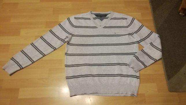 Klasyczny sweter TOMMY HILFIGER r.L stan bardzo dobry