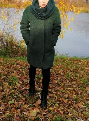 Шерстяное зимнее пальто размер М