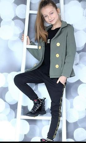 Nowa kurtka, płaszczyk Khaki 134