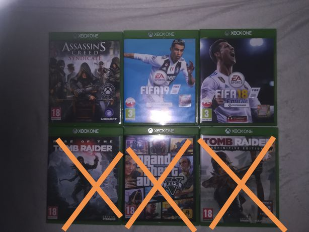 Gry xbox one Fifa 19, Fifa 18, AC Syndicate