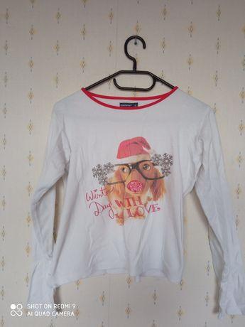 Koszulka dziecięca piesek piżama Mikołaj boże narodzenie