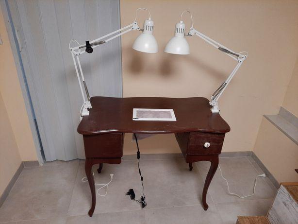 Stylowe biurko/stolik manicure/kosmetyczny z pochłaniaczem pyłu
