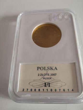 Moneta 2 zł Płock w Gradingu