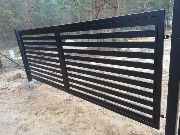 Brama 4m furtka 1m słupki ogrodzeniowe ocynk malowanie proszkowe