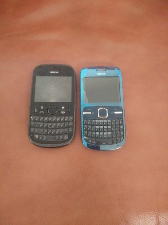 Dois telemóveis Nokia e dois telemóveis