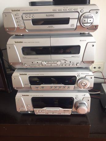 Aparelhagem de som Technics cd cassete