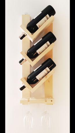 Drewniana półķa na wino różne kolory OKAZJA