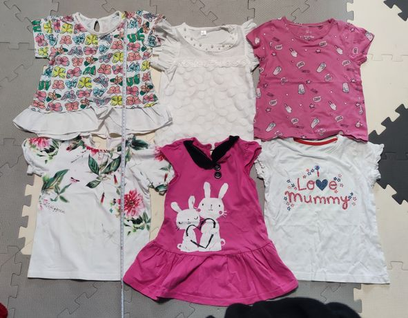 Koszulki z krótkim rękawem, zestaw dla dziewczynki, 98 i 104