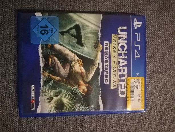 Uncharted Drake's Fortune remastered - PS4 NIE UŻYWANA!!!