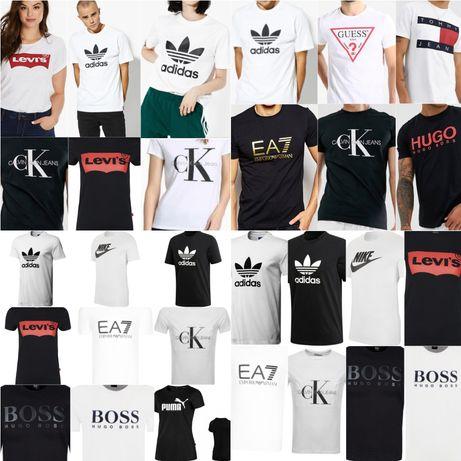 Koszulki Hugo Boss Guess cK Calvin Klein Armani AX EA7 Adidas Tommy H.