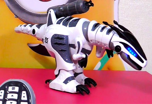 65 см!!! Робот динозавр на д/у и сенсоре. Ходит, танцует, стреляет