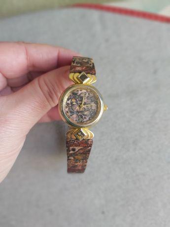 Relógio em Pedra Semi Preciosa (Jaspe Leopardo)