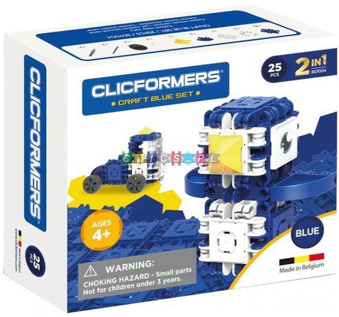 Klocki Clicformers Niebieskie Blue 25 elementów