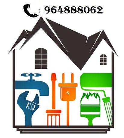 Pintura, Carpintaria, Pladur, Telhado, Remodelações gerais, Manutenção