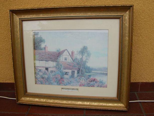 kolekcjonerski obraz oleodruk dom 62/62cm