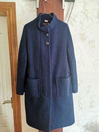 Пальто синее Viktoria style шерсть