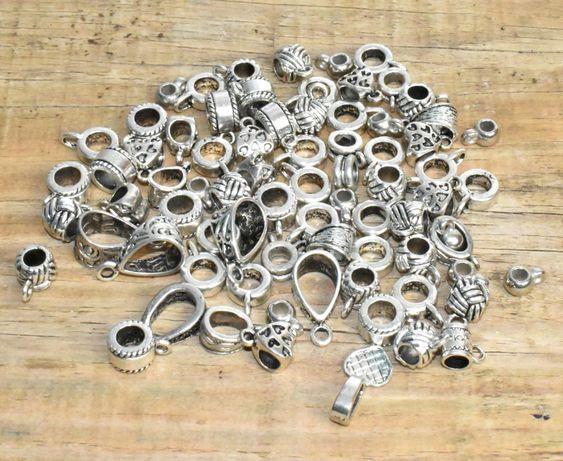 Material bijutaria - pendentes - 75 unidades