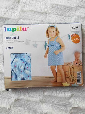 Komplet letni niemowlęcy sukienka Lupilu 62/68