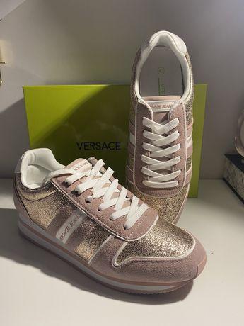 Buty sneakersy Versace rozowe 40